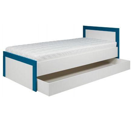 Dětská postel Julien 90x200cm - bílá/modrá