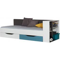 Dětská postel Tonda 90x200cm - atlantic/bílý/grafit