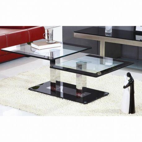 Moderní konferenční stolek ocel/sklo T-30