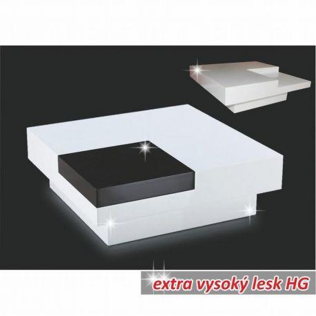 Konferenční stolek bíý vysoký lesk T-13