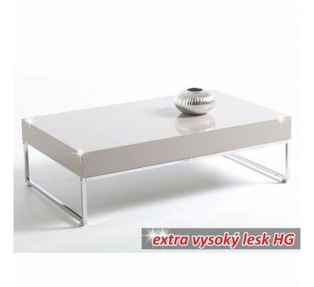 Konferenční stolek chrom/bílý lesk T-06