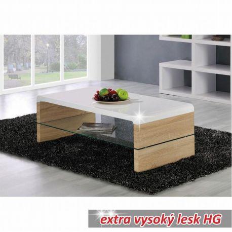 Konferenční stolek dub sonoma/bílý lesk T-10