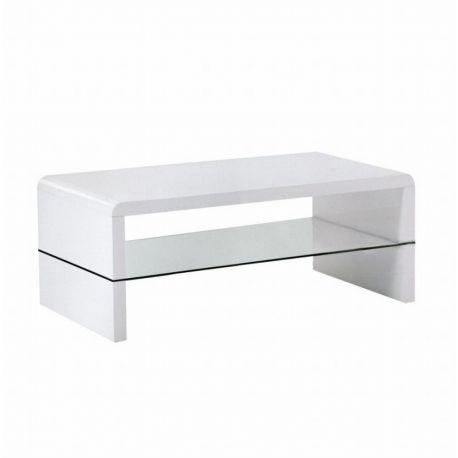 Konferenční stolek dub sonoma/bílý lesk T-11