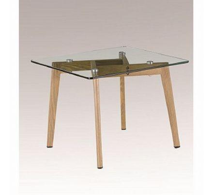 Konferenční stolek dsklo / kov s úpravou buk T-25