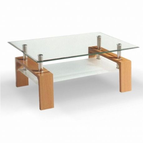 Konferenční stolek buk / sklo T-28