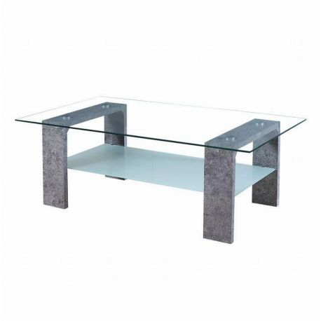 Konferenční stolek šedý / sklo T-34