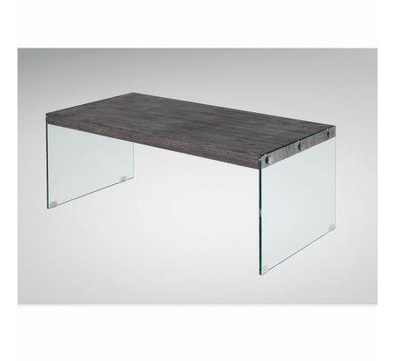 Konferenční stolek šedé dřevo / sklo T-37
