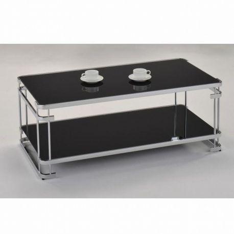 Konferenční stolek černý / chrom T-47