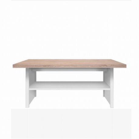 Konferenční stolek bílý / dub sonoma T-58