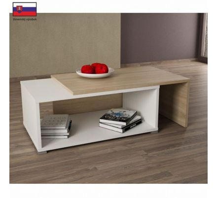 Rozkládací konferenční stolek dub sonoma/ bílýT-89