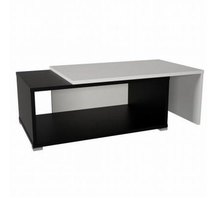 Rozkládací konferenční stolek bílá / černá T-91