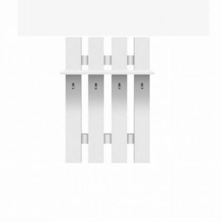Věšáková stěna Typo - bílá