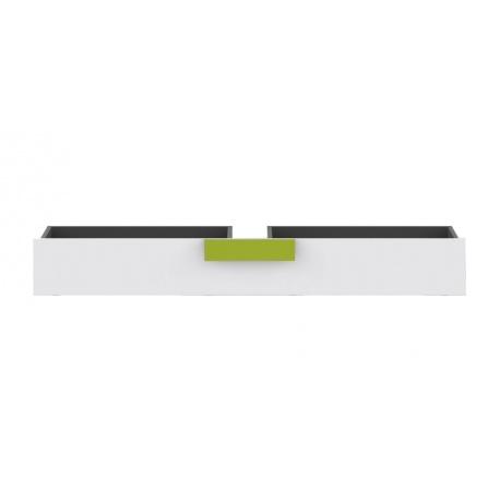 Šuplík k posteli LIBELLE - šedá/bílá/limetka