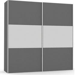 Velká šatní skřín REA Houston up 6 - graphite