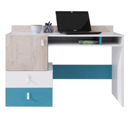 Studentský psací stůl PHILOSOPHY - bílá / modrá