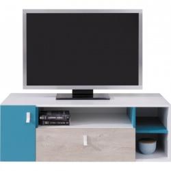 Televizní stolek PHILOSOPHY - bílá / modrá