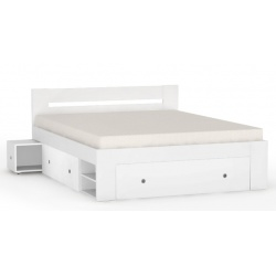 Postel REA Larisa 160x200cm s nočními stolky-bílá