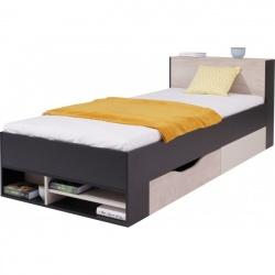 Studentská/dětská postel PHILOSOPHY - černá / béžová L/P
