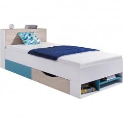 Studentská/dětská postel PHILOSOPHY bílá / modrá L/P