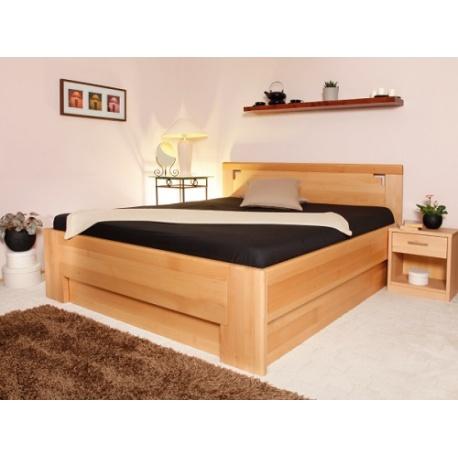 Masivní postel s úložným prostorem DeLuxe 2 -
