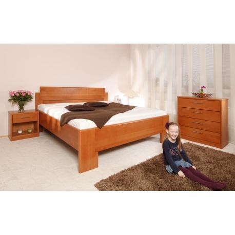 Masivní postel s úložným prostorem Deluxe 1