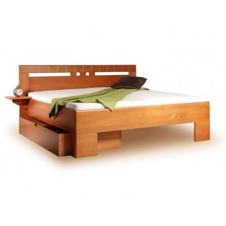 Masivní postel s úložným prostorem Vareza 1