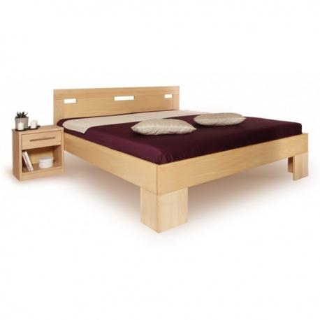 Masivní postel s úložným prostorem Varezza 6A