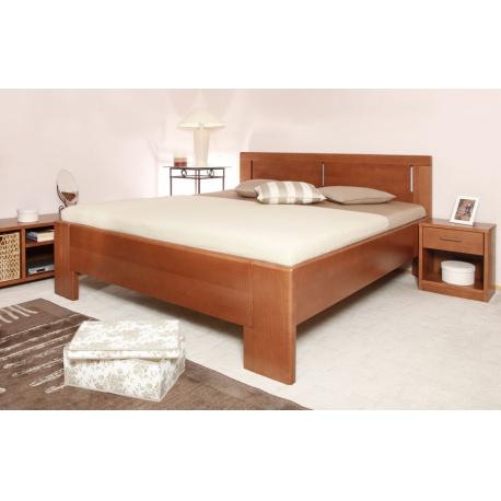 Masivní postel s úložným prostorem DeLuxe 3 - 160/