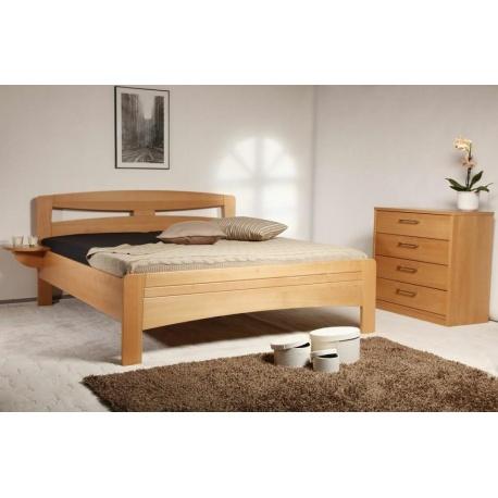 Masivní postel s úložným prostorem Evita 2
