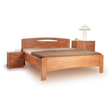 Masivní postel s úložným prostorem Evita 3