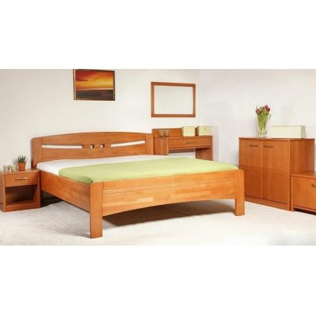 Masivní postel s úložným prostorem Evita 1