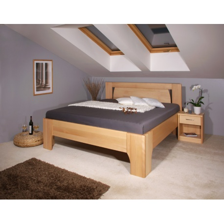 Masivní postel s úložným prostorem Olympia 1-80