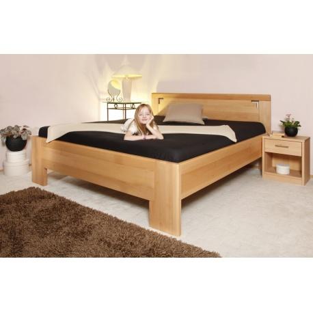Masivní postel s úložným prostorem Deluxe 2 - 80/