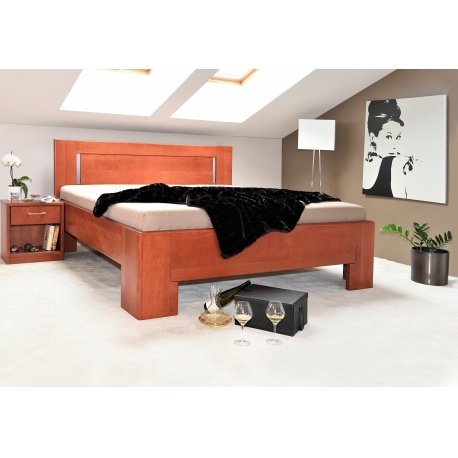 Masivní postel s úložným prostorem Hollywood 1-120