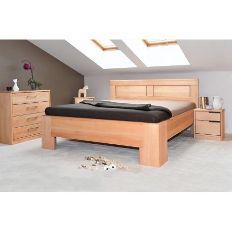 Masivní postel s úložným prostorem Hollywood 2-120