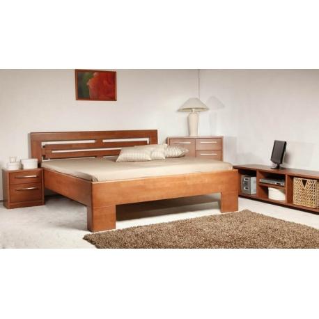 Masivní postel s úložným prostorem Varezza 2 - 120
