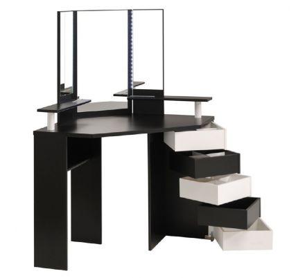 Dětský toaletní stolek Bingo - bílo/černá