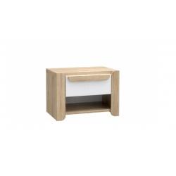 Noční stolek Face - dub sonoma/bílá