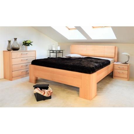 Masivní postel s úložným prostorem Manhattan 1-80