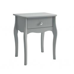 Noční stolek Baroko - tmavě šedá