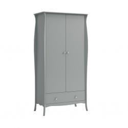 Šatní skříň Baroko 2D1S - tmavě šedá