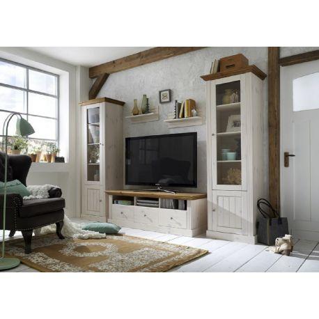 Obývací stěna Moris I - bílá/provence