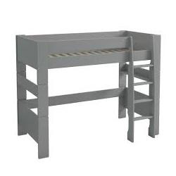 Vyvýšená postel Dash II 90x200 cm - MDF/šedá
