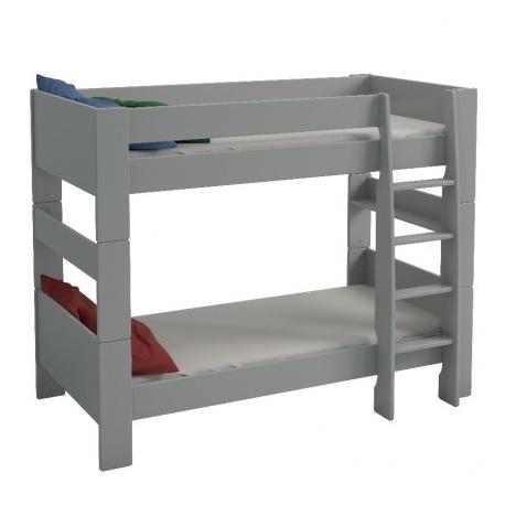 Patrová postel Dash 90x200 cm - MDF/šedá