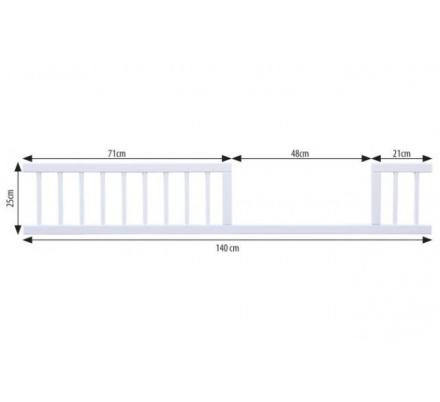 Bočnice k postýlkce 140cm - bílá