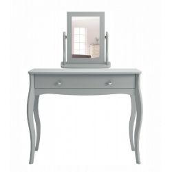 Toaletní stolek se zrcadlem Baroko - tmavě šedá