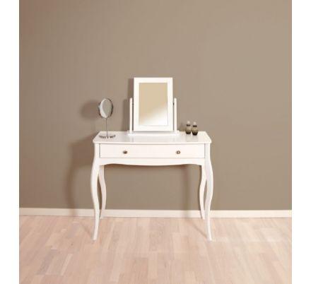 Toaletní stolek se zrcadlem Baroko - bílá