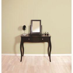 Toaletní stolek se zrcadlem Baroko - černo/hnědá