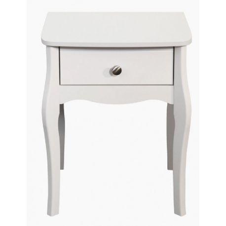 Noční stolek Baroko - bílá