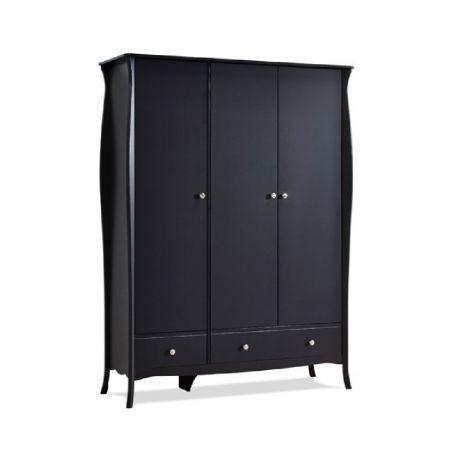 Šatní skříň Baroko 3D3S - černo/hnědá